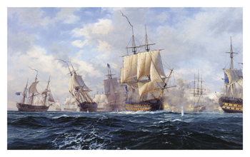 Battle of Copenhagen Fine Art Print by Steven Dews