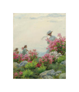 Among the Wild Azaleas Fine Art Print by Charles Courtney Curran