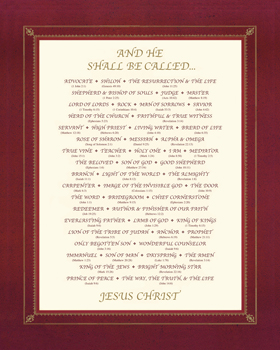 And He Shall Be Called.... Print by The Inspirational Collection