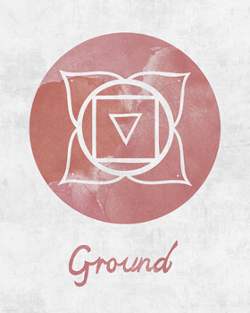 Chakra - Ground Print by Sasha Blake