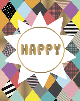 Happy Bright Print by Sophie Ledesma