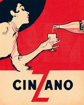 Cinzano Print by Anonymous