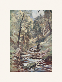 Devon Stream Fine Art Print by Lionel Edwards