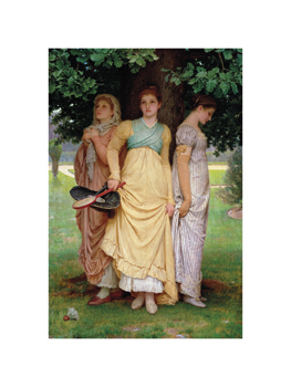 A Summer Shower Fine Art Print by Charles Edward Perugini