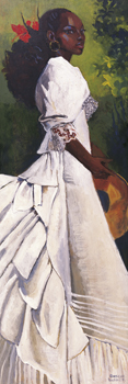 Woman In White I Canvas Print by Boscoe Holder