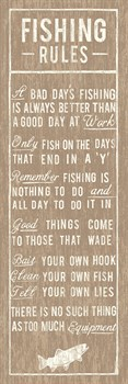 Fishing Rules Print by The Vintage Collection