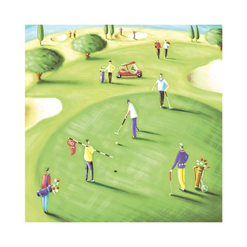 18th Hole Print by Jo Parry