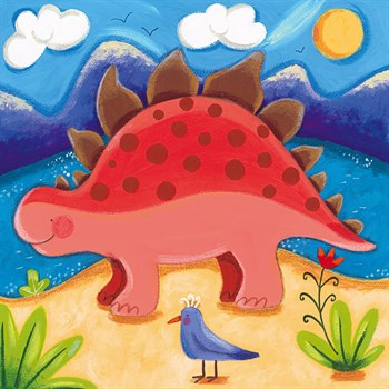 Baby Steggy The Stegosaurus Print by Sophie Harding