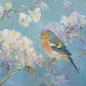 Birds in Blossom - Detail II Print by Sarah Simpson