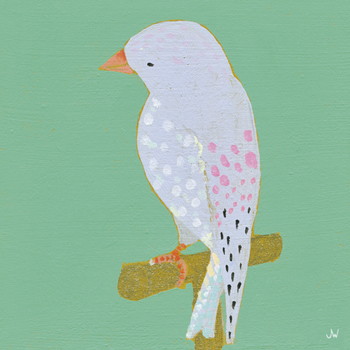 Bright Birds - Playful Print by Joelle Wehkamp