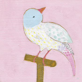 Bright Birds - Cheery Print by Joelle Wehkamp
