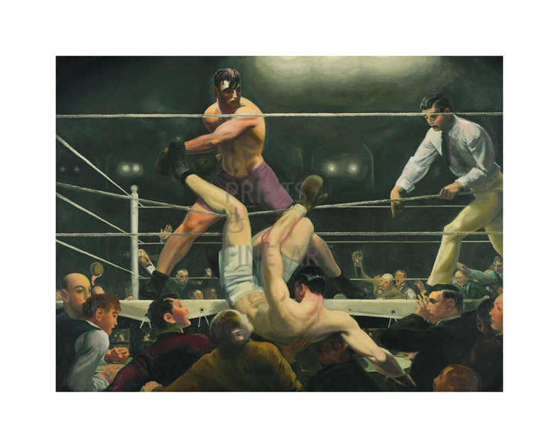 Boxers Fine Art Print George Bellows Club Night Images of America
