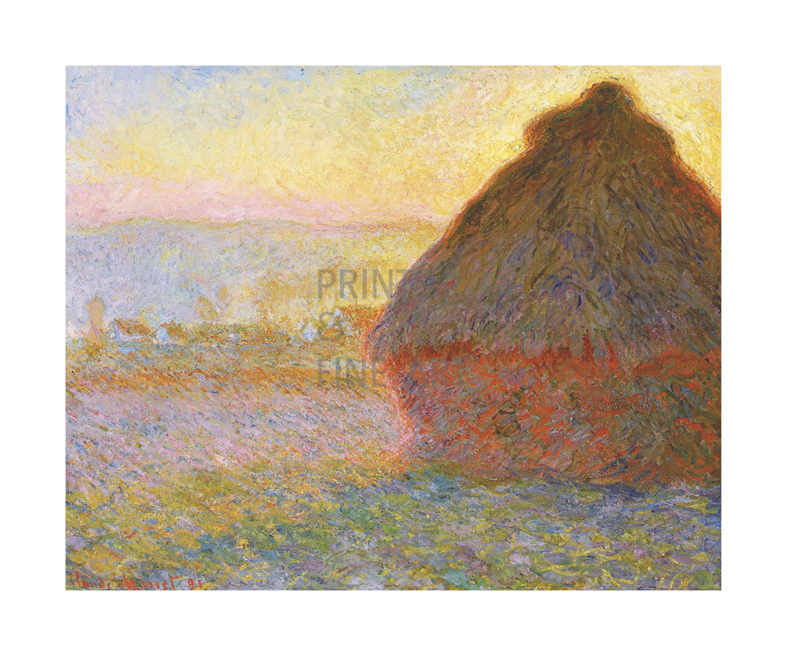 Haystacks, by Claude Monet