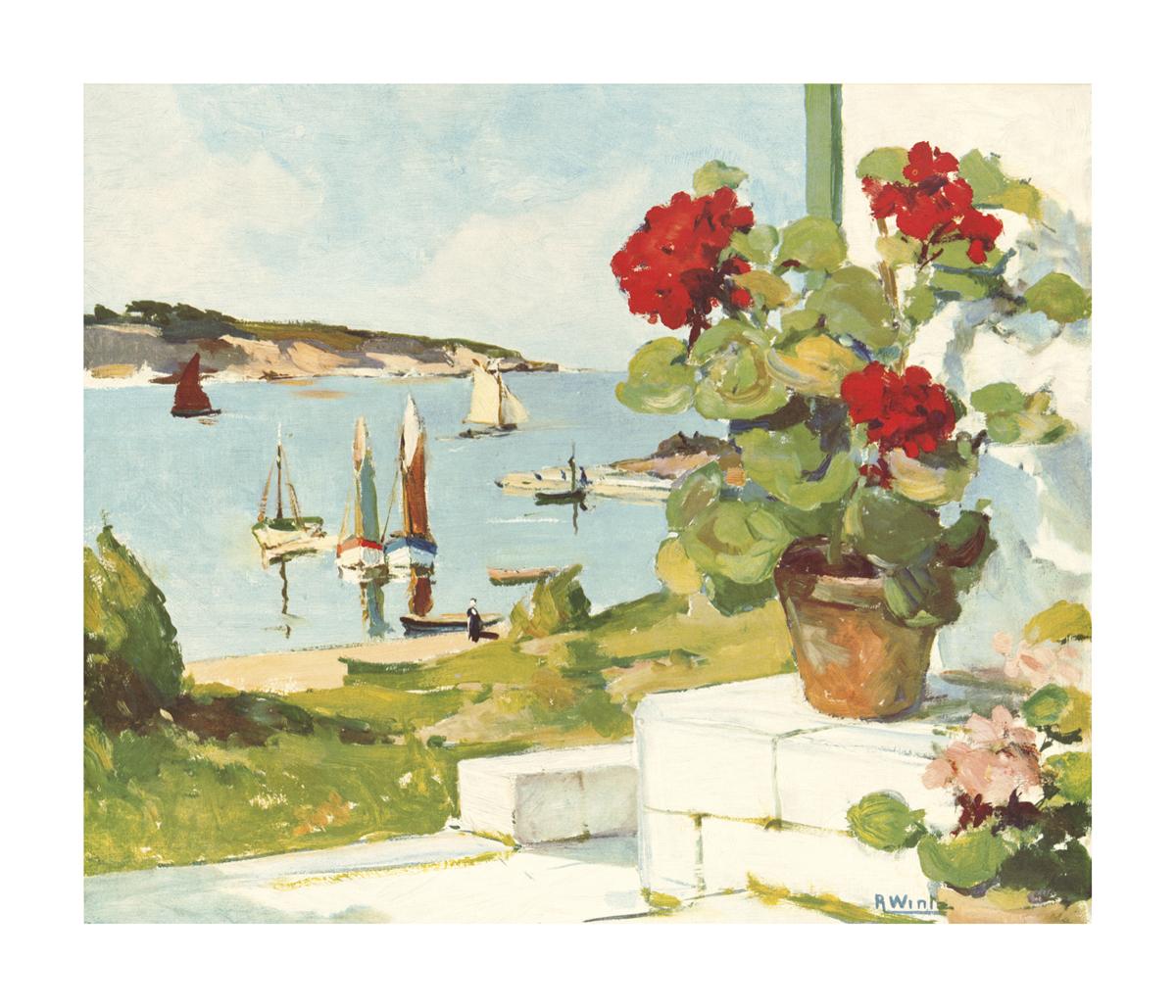 Hydrangeas R Wintz Print