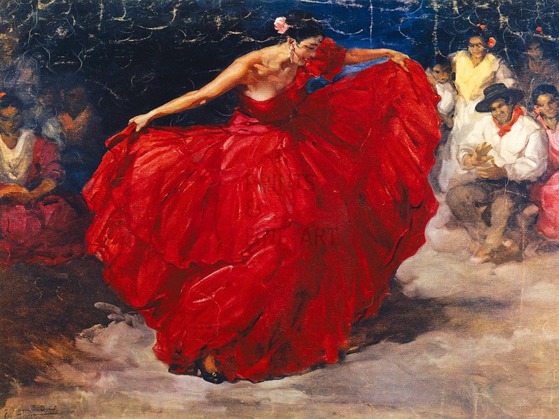 The Red Skirt By Francisco Rodriguez Sanchez Clemente